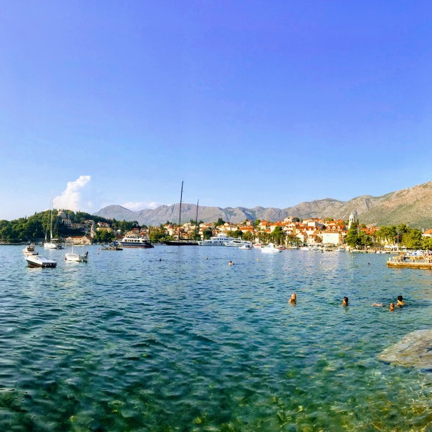 Cavtat beach with a view